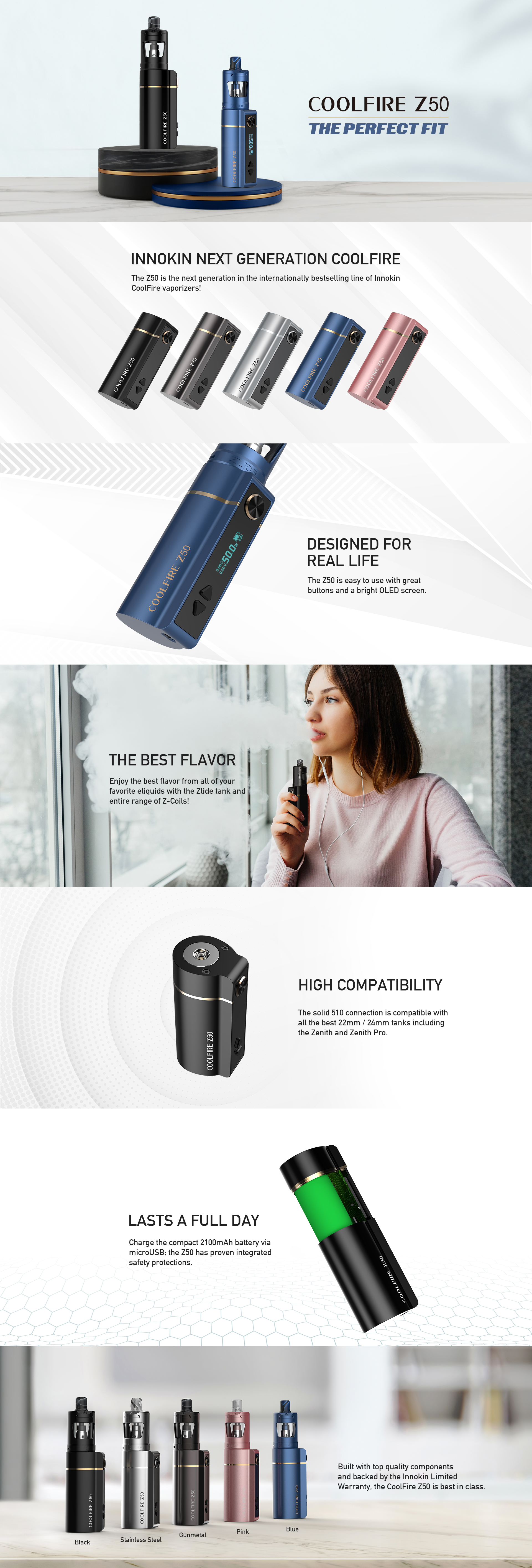 INNOKIN Coolfire Z50 Product Page